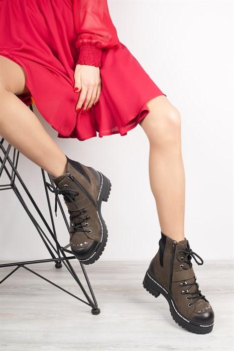 Ботинки 5143-R047 KHAKI - фото 8844