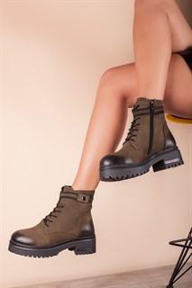 Ботинки 5202-R1276 KHAKI мех - фото 11534