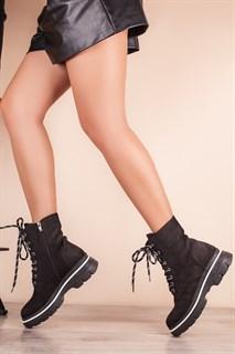 Ботинки 5306-R044-01 SIYAH NUBUK мех - фото 11549