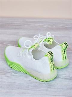 Кроссовки H2361 White-Green - фото 4508