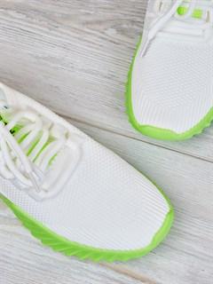 Кроссовки H2361 White-Green - фото 4510