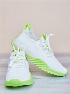 Кроссовки H2361 White-Green - фото 4511