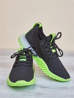 Кроссовки H2361 Black-Green - фото 4578