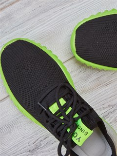 Кроссовки H2361 Black-Green - фото 4579